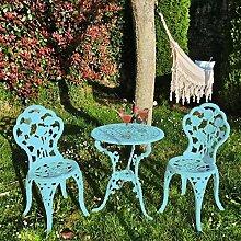Ensemble de 1 table et 2 chaises en aluminium