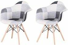 Ensemble de 2 chaises, Fauteuil Patchwork, Chaise