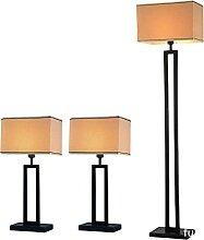 Ensemble De 3 Lampes, 2 Lampes De Table Et