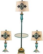 Ensemble De 3 Lampes, Avec Abat-jour En Tissu Et