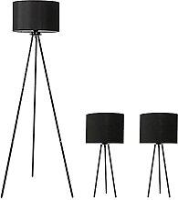 Ensemble De 3 Lampes Avec Trépied, 2 Lampes De