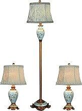 Ensemble De 3 Lampes De Salon Farmhouse, Lampes De