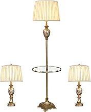 Ensemble De 3 Lampes, Lampadaire En Résine De