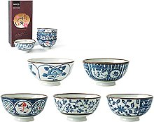 Ensemble de 5 bols à riz japonais en céramique