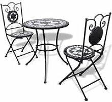 Ensemble de Bistro Mosaïqué, Table de Jardin et