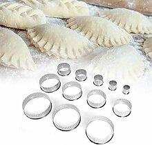 Ensemble de coupe-biscuits à biscuits ronds -12