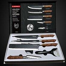 Ensemble de couteaux de cuisine en acier