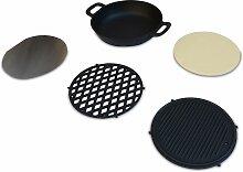 Ensemble de cuisson pour barbecue  au charbon –