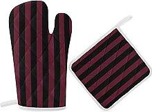 Ensemble de gants de cuisine et maniques, gants