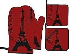 Ensemble de gants de cuisine et maniques - Motif