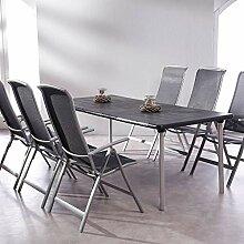 Ensemble de Jardin 6 pièces avec chaises Pliantes