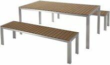 Ensemble de jardin en aluminium et bois composite