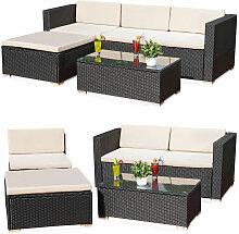 Ensemble de meubles de jardin en rotin - canapé