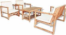 Ensemble de mobilier de jardin 12 pcs Bambou