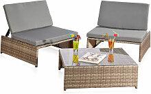 ensemble de mobilier de jardin polyvalent - chaise