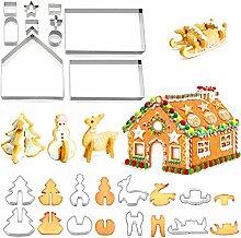 Ensemble de moules à biscuits de Noël 3D, outils
