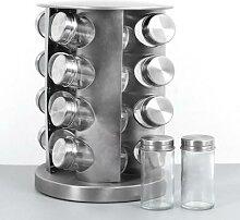 Ensemble de pots à épices en acier inoxydable,