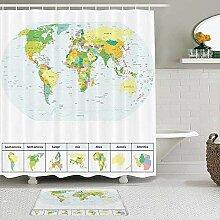 Ensemble de rideau de douche 2 pièces avec tapis