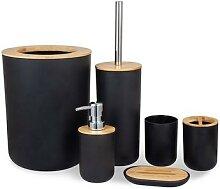 Ensemble de salle de bain en bois de bambou,