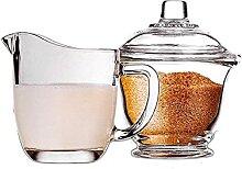 Ensemble de sucre en verre et latte Evazory