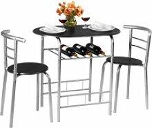 Ensemble de table et 2 chaises pour salle à