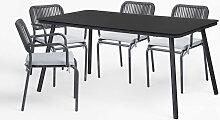 Ensemble de table et 4 chaises de jardin Arhiza