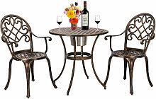 Ensemble de table et de chaises en fonte