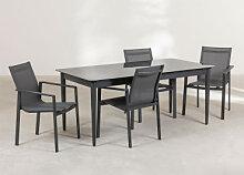 Ensemble de table extensible Hari (180-260 cm) et