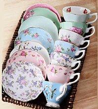Ensemble de tasses à café chinoises, cuillère