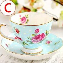 Ensemble de tasses à café en porcelaine