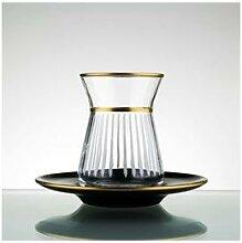 Ensemble de tasses à thé en verre turc, tasse à