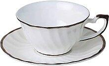 Ensemble de tasses à thé et de disques en