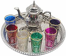 Ensemble de thé marocain complet, théière avec