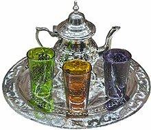 Ensemble de thé marocain complet. Théière pour