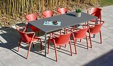 Ensemble jardin table anthracite Meet et 8
