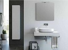 Ensemble meuble de salle de bain blanc et miroir