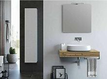 Ensemble meuble de salle de bain chêne clair et