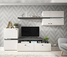Ensemble meuble TV avec étagère murale JET en