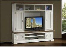 Ensemble meuble TV contemporain en bois massif