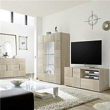 Ensemble meuble TV couleur chêne clair ARTIC 3