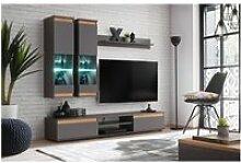 Ensemble meuble tv mural - abw modo - gris