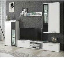 Ensemble meuble tv mural - abw wow - blanc