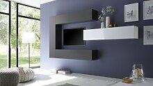 Ensemble meuble TV mural avec rangements - Manoj