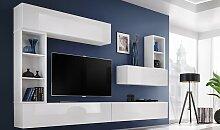 Ensemble meuble TV mural blanc - Brescia I