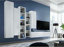 Ensemble meuble TV mural CUBE 12 design coloris