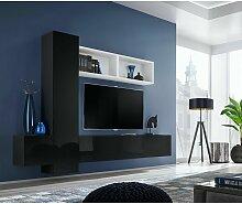 Ensemble meuble TV mural CUBE 13 design coloris