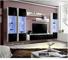 Ensemble meuble tv mural  - fly ii - 310 cm x 190