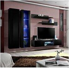 Ensemble meuble tv mural - fly o4 - 260 x 40 x 190