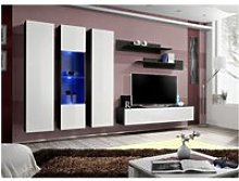 Ensemble meuble tv mural  - fly v - 310 cm x 190