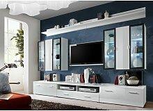 Ensemble meuble TV mural - Iceland - L 120 cm - 5